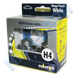 Лампа H4 Narva 100/90 48688 (98513) Range Power White 4500k Box (2шт.)